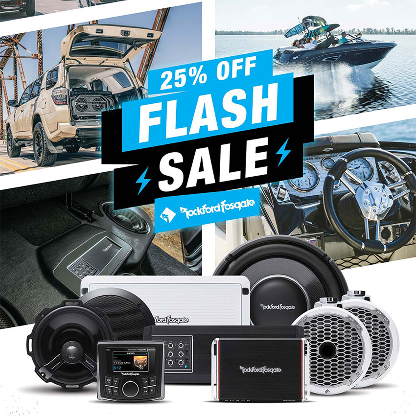 Rockford Fosgate Flash Sale 25% Off