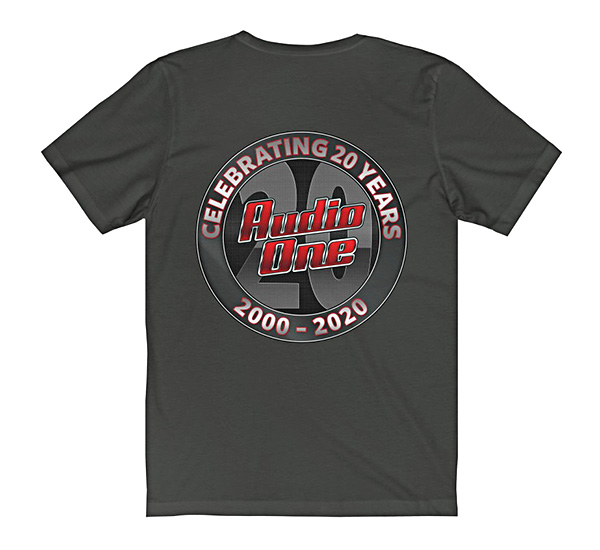 Gray Short Sleeve Audio One T-Shirt Swag