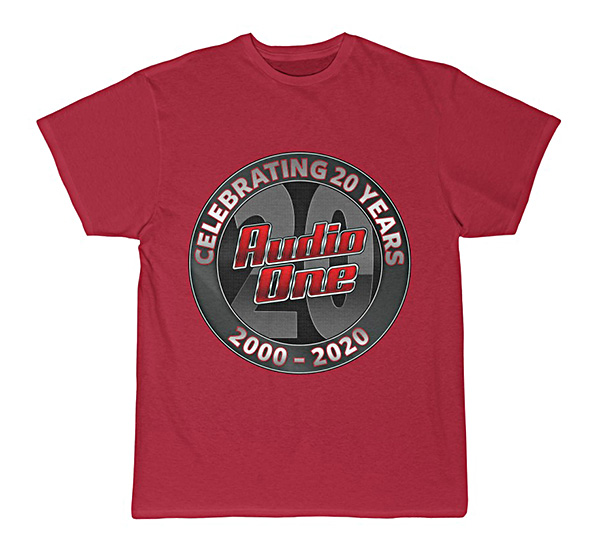 Red Short Sleeve Audio One T-Shirt Swag